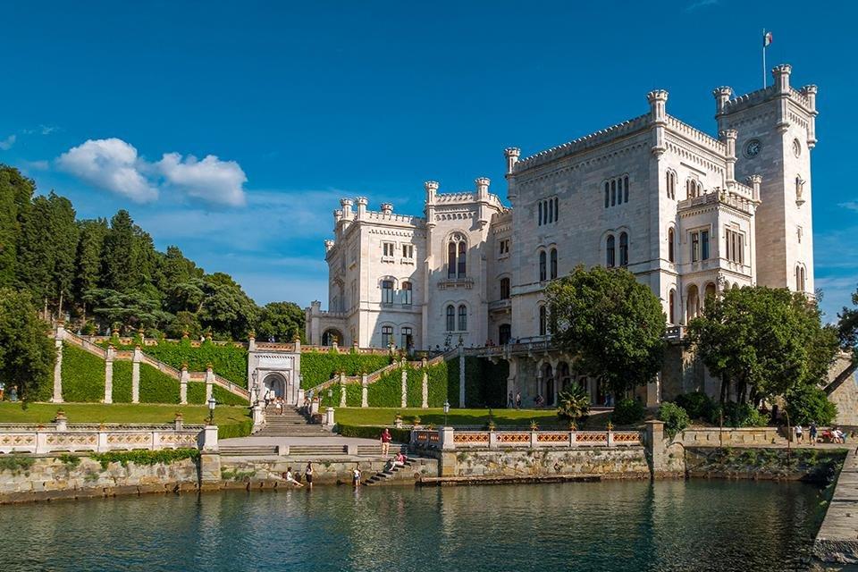 Castello Miramare in Triëst, Italië