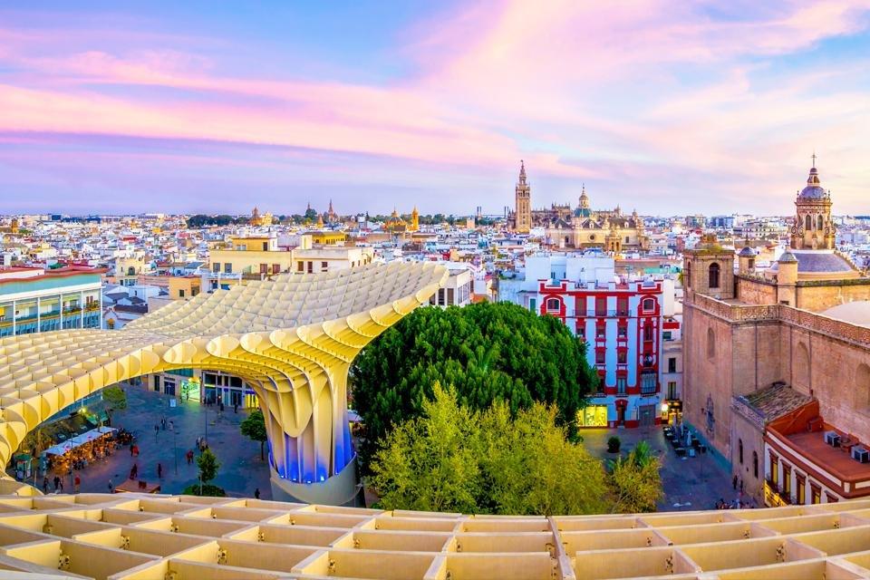 Uitzicht vanaf Metropol Parasol in Sevilla, Spanje