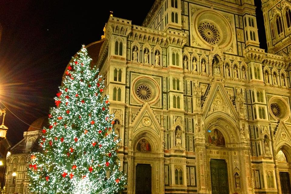 De Duomo in Florence, Italië, tijdens kerst