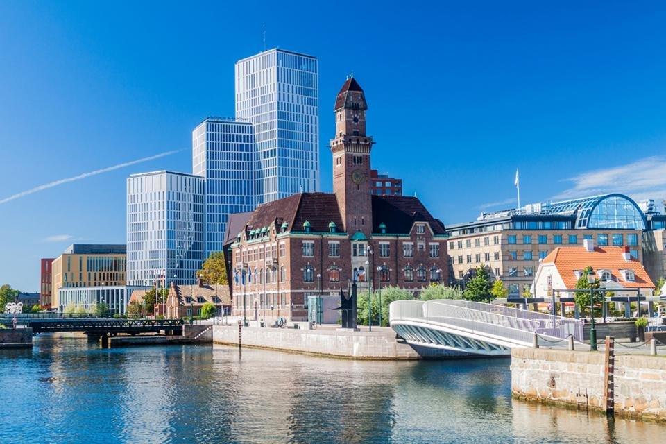 Het moderne landschap van Malmö, Zweden