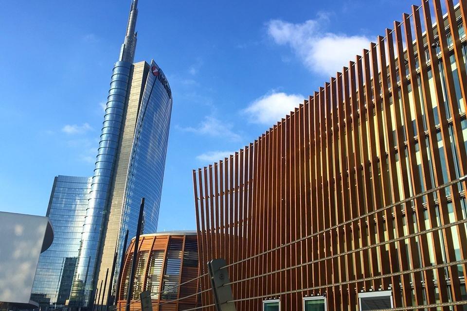Torre Unicredit in de wijk Porta Nuova, Milaan, Italië