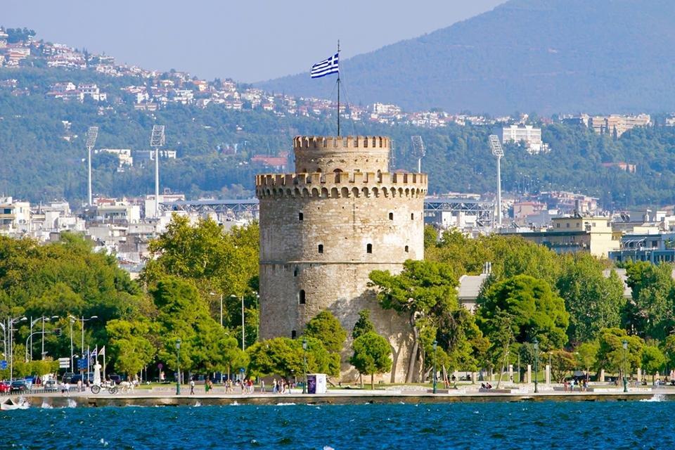Witte toren in Thessaloniki, Griekenland