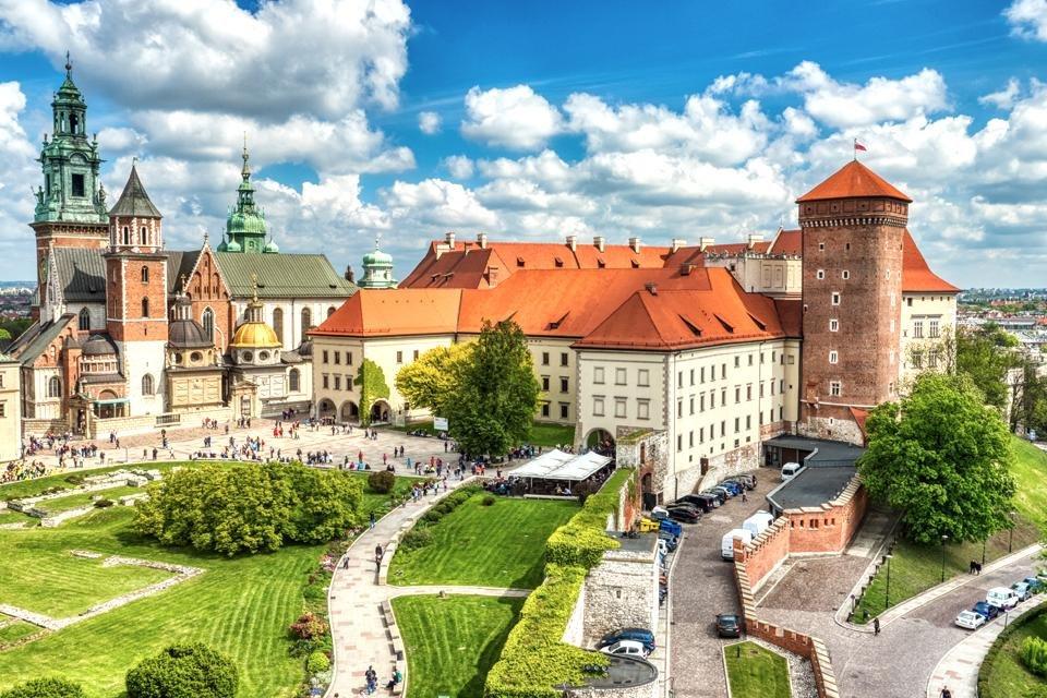 Kasteel Wawel in Krakau, Polen