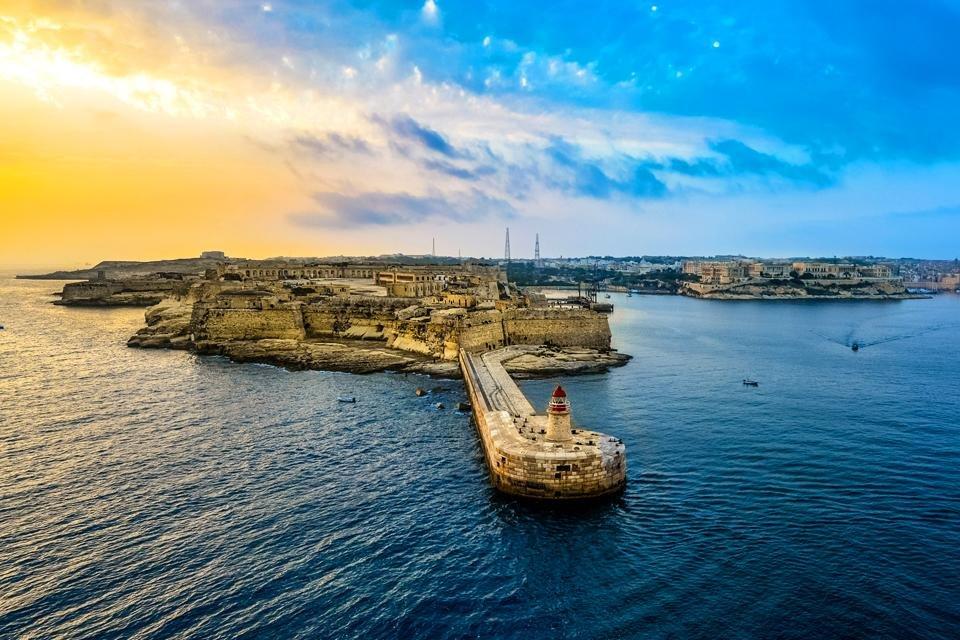 Uitzicht op Malta