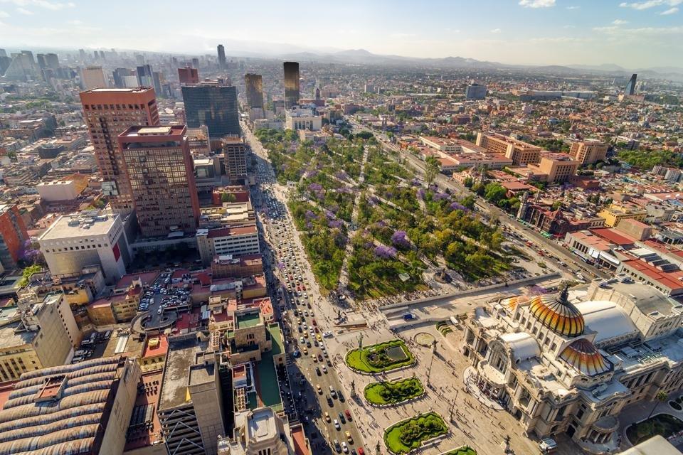 Uitzicht over Mexico Stad