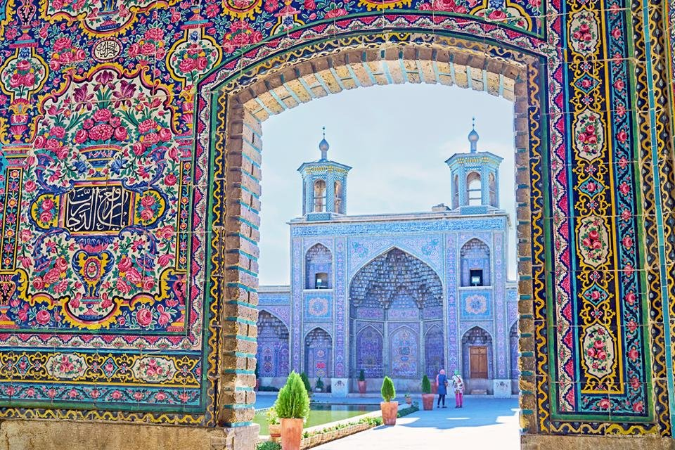 Nasir al Molkmoskee in Shiraz, Iran