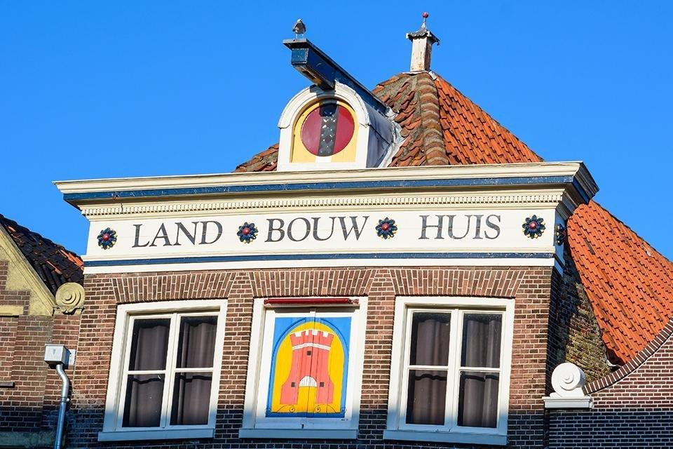 Gevel van landbouwhuis in Alkmaar, Nederland