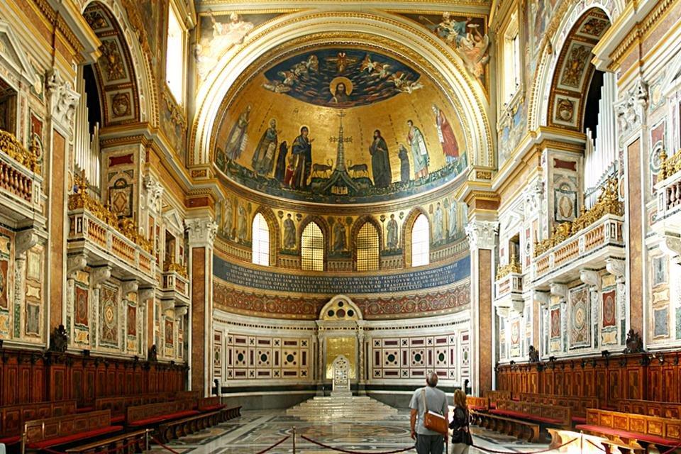 Apsis van de Sint Jan van Lateranen, Rome, Italië
