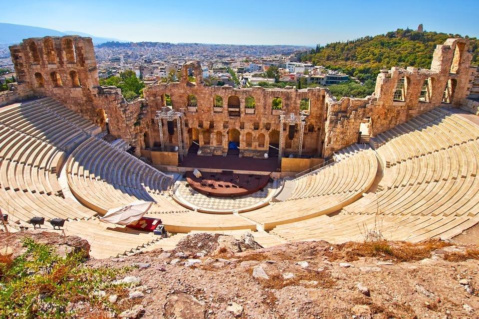 Herodes Atticus theater en Athene, Griekenland