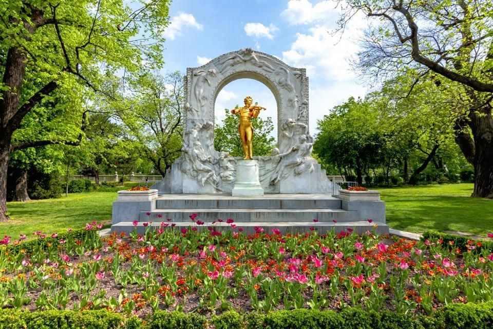 Monument voor Johann Strauss in Wenen, Oostenrijk