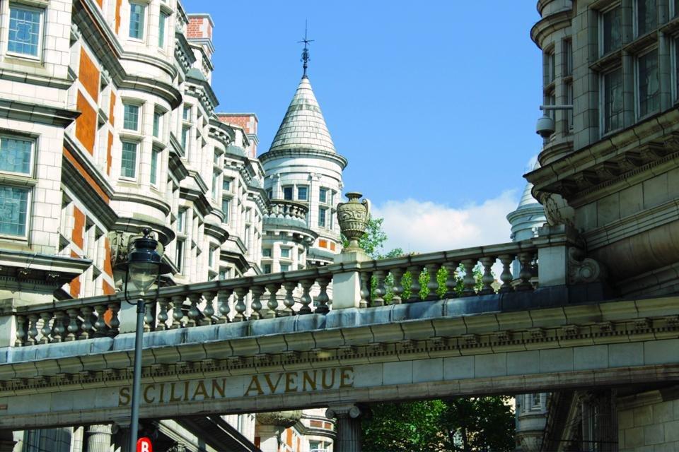 Sicilian Avenue in Bloomsbury, Londen, Groot-Brittannië