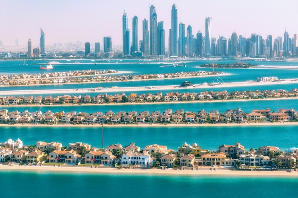 Palmeiland Jumeirah in Dubai, Verenigde Arabische Emiraten