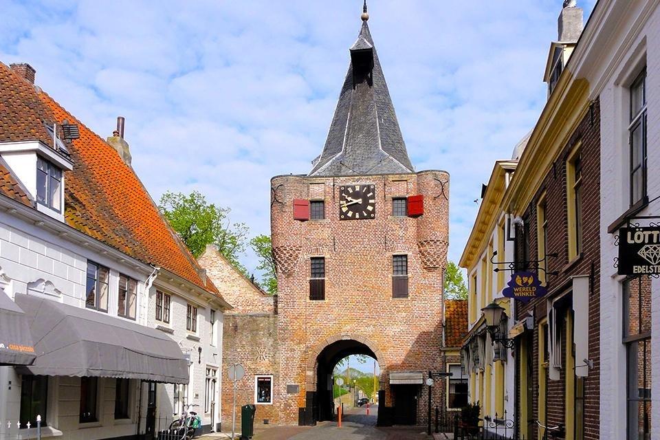 Vischpoort in Elburg, Nederland