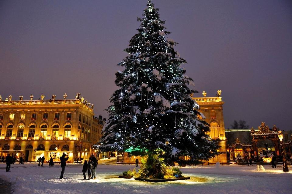 Kerstboom in Nancy, Frankrijk