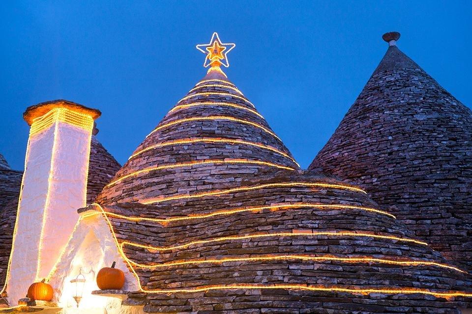 Alberobello, Kerstversiering, Italië