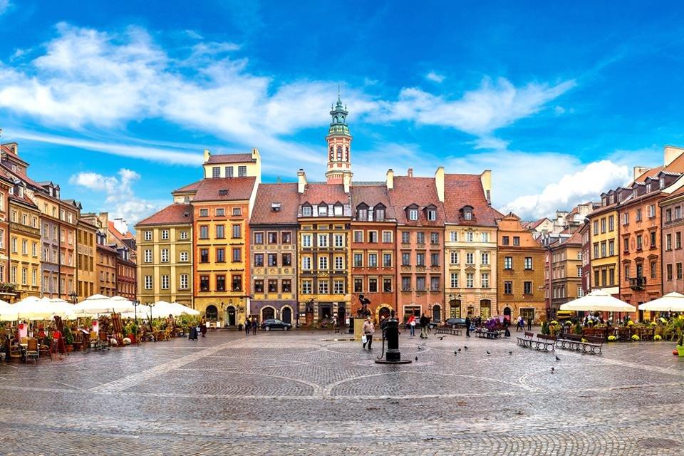 Het oude centrum van Warschau, Polen