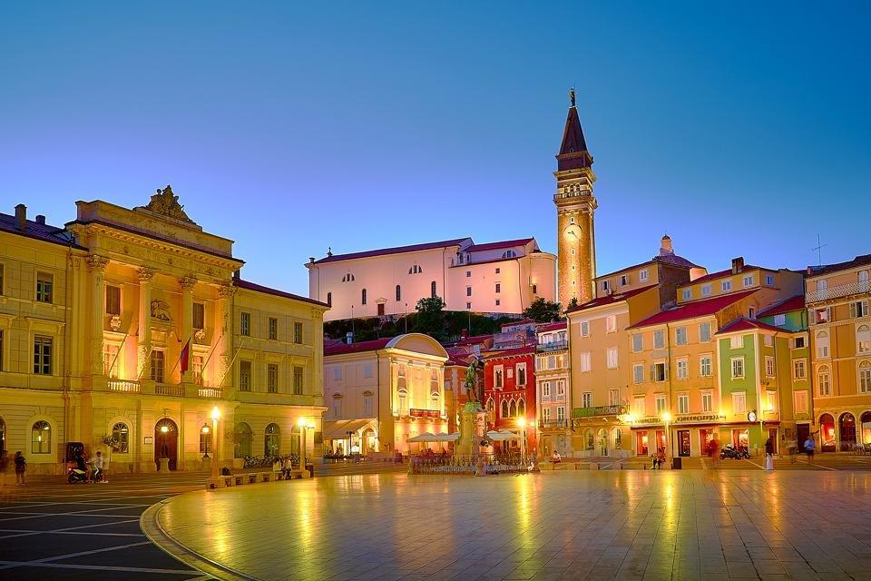 Het gezellige hart van Piran, Slovenië