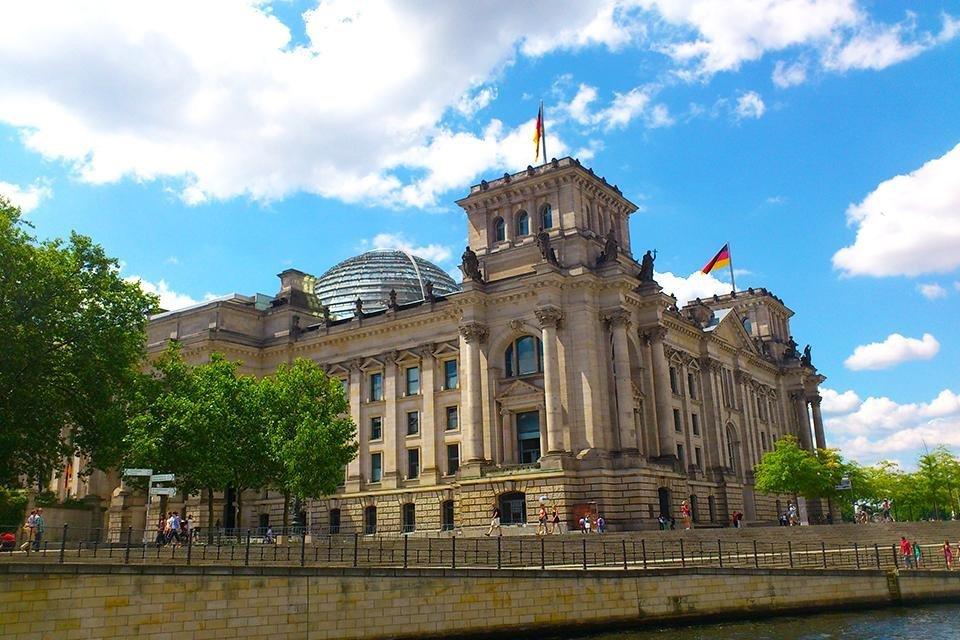 De Reichstag in Berlijn, Duitsland