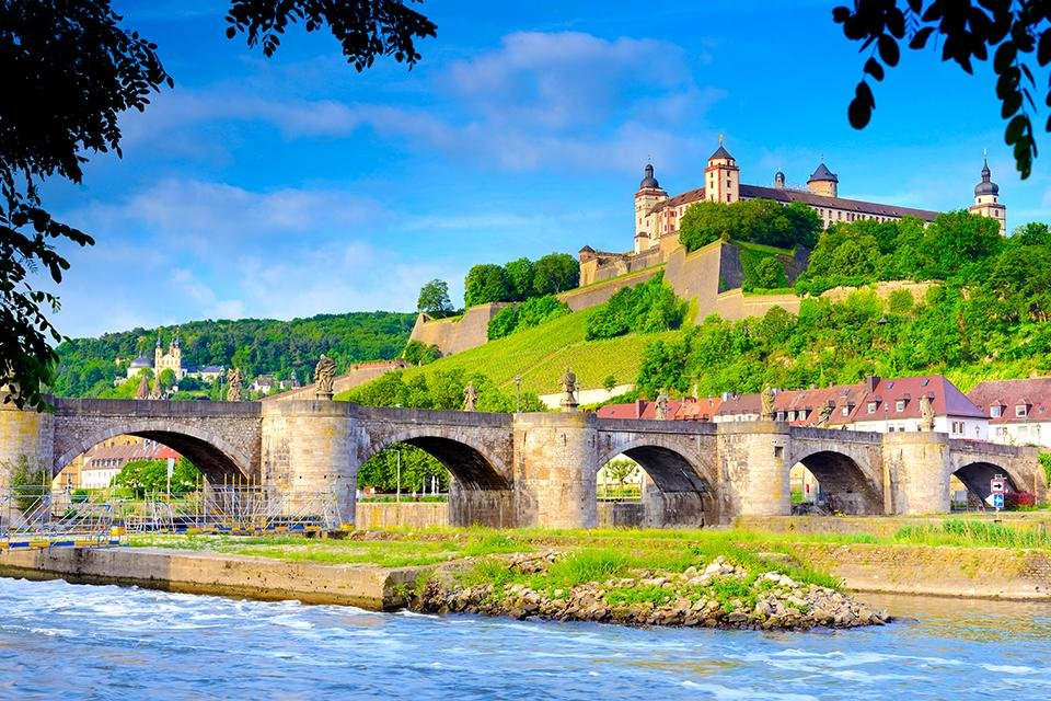 Festung Marienberg in Würzburg, Duitsland