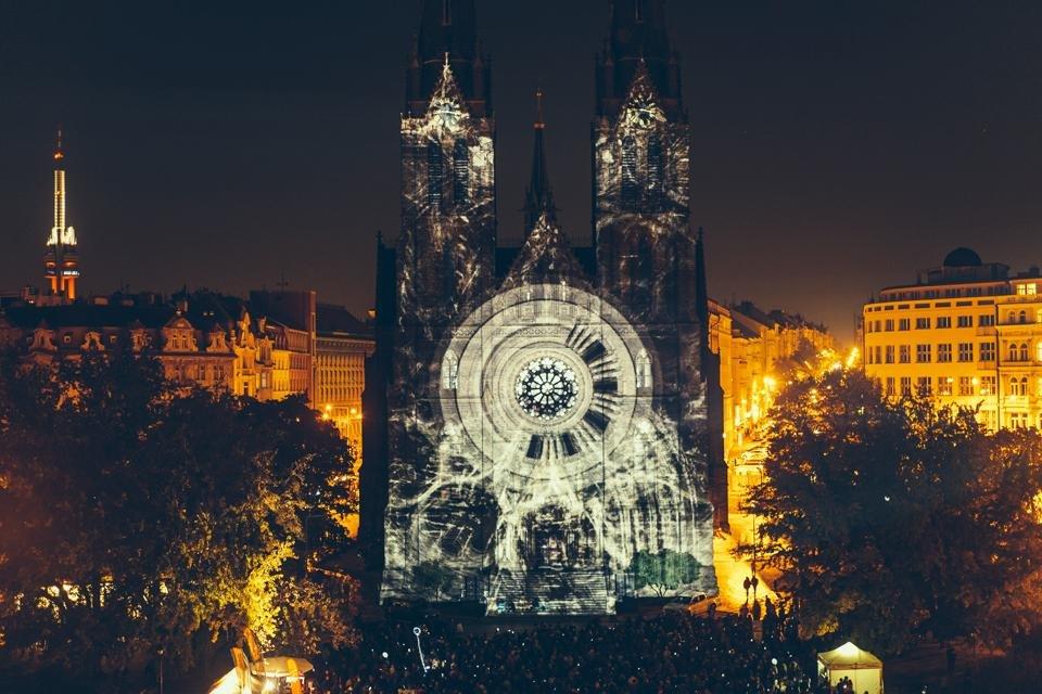Lichtfestival in Praag