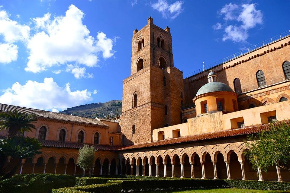 Het klooster van Monreale, Sicilië, Italië