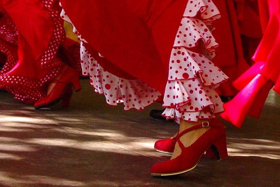 Spanje Flamenco-danseres