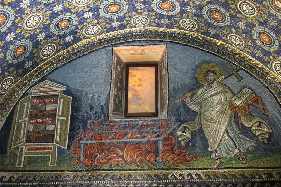 Mausoleum van Galla Placidia, Ravenna, Italië