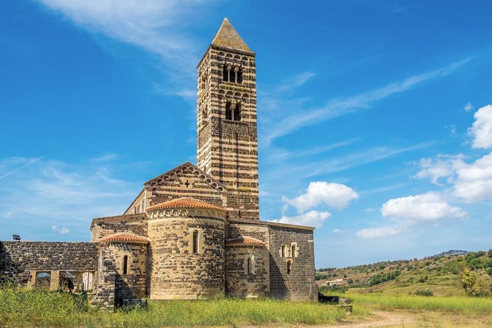 Santissima Trinità di Saccargia op Sardinië, Italië