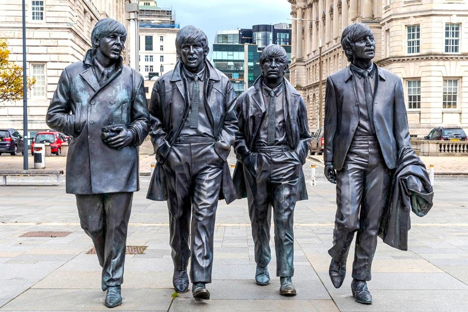 Standbeeld Beatles, Liverpool, Groot-Brittannië