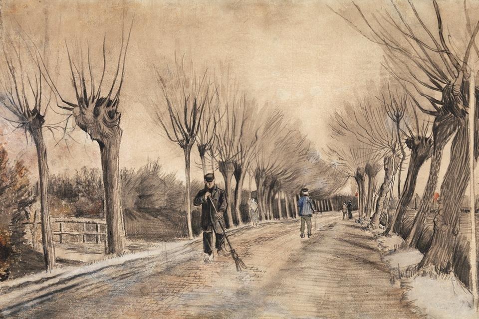 De weg in Etten, Vincent van Gogh, 1881