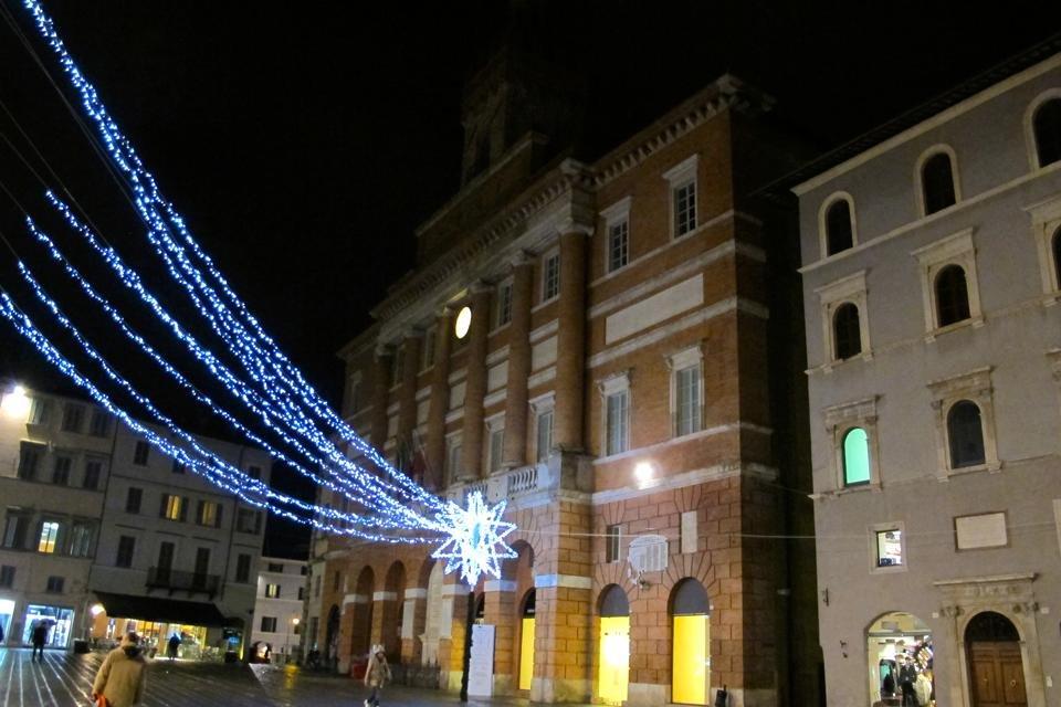 Kerst in Foligno, Umbrië, Italië