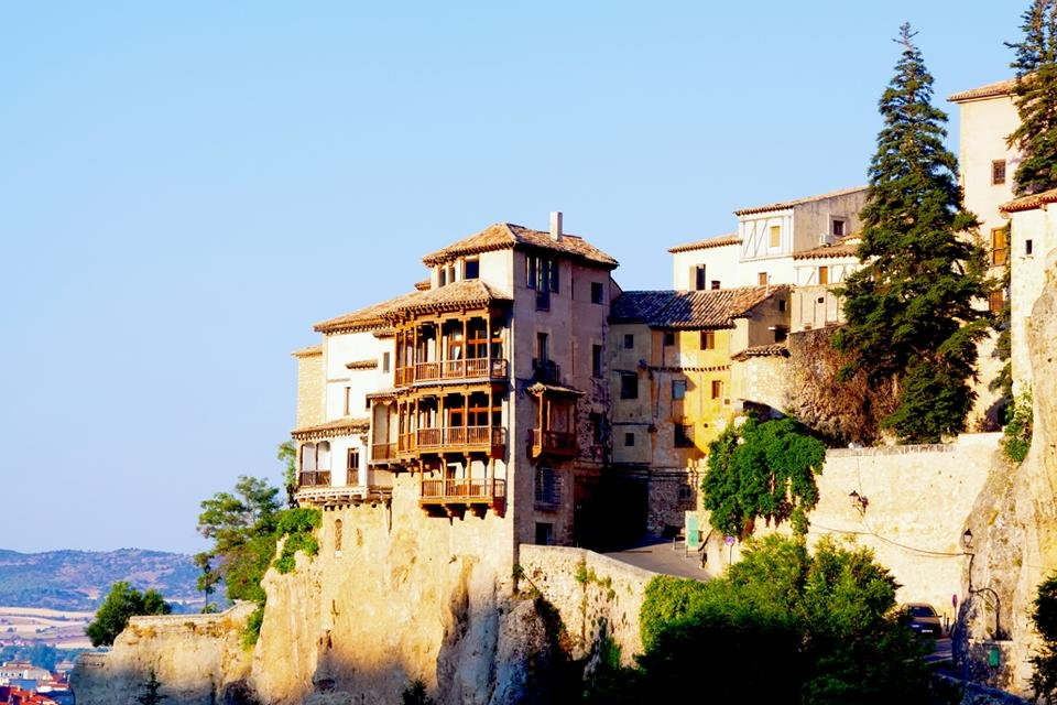 Hangende huizen in Cuenca, Spanje
