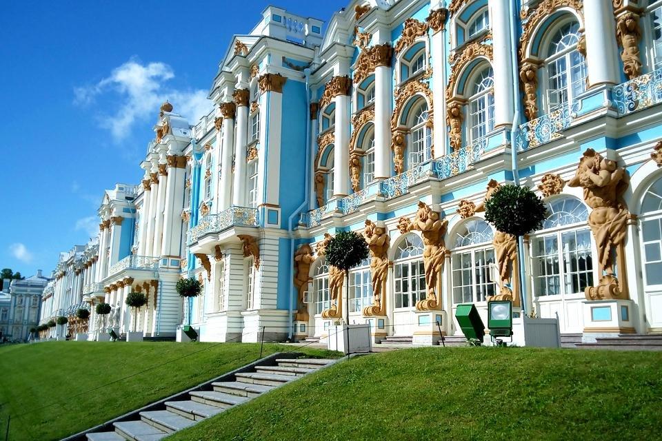 Het Catharinapaleis in Tsarskoje Selo